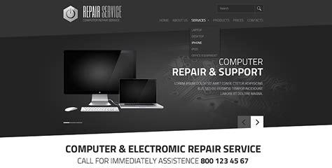 5 Top Ranked Computer Repair Website Templates Gridgum Computer Repair Website Template