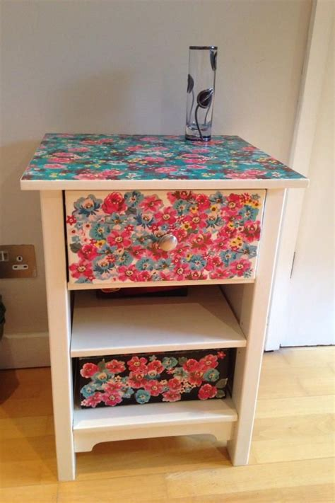 Decoupage Bedside Table - pin by wilma brown on bright furnishings
