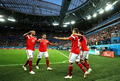 vs russia world cup denis cheryshev zobnin photos photos russia vs