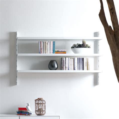 scaffali in alluminio scaffale a muro big 39 in alluminio e acciaio bianco 165 x
