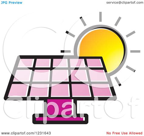 royalty free solar panel clip art vector images clipart of a sun over a pink solar panel icon royalty