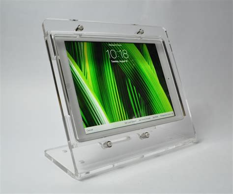tablet acrylic anti theft security ez desktop stand for store display kiosk pos ebay