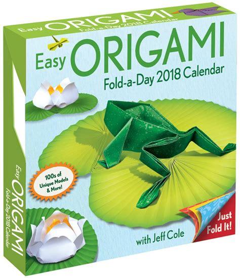 Origami Calendar - easy origami fold a day 2018 calendar giveaway