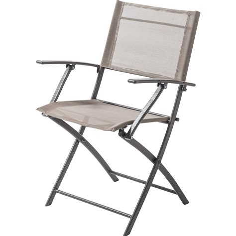 fauteuil de jardin en acier denver taupe leroy merlin