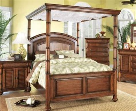 hawaiian style bedroom furniture tropical canopy bed by cindy crawford the hawaiian home
