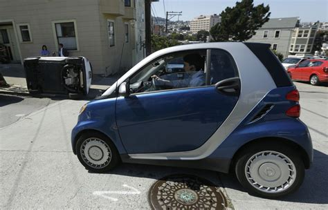 tipped smart cars probe smart car vandalism in san francisco daily