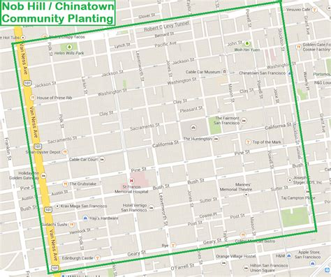 san francisco map nob hill nob hill chinatown community planting friends of the