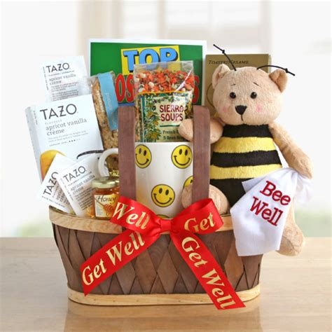 bee well get well gift baskets free shipping