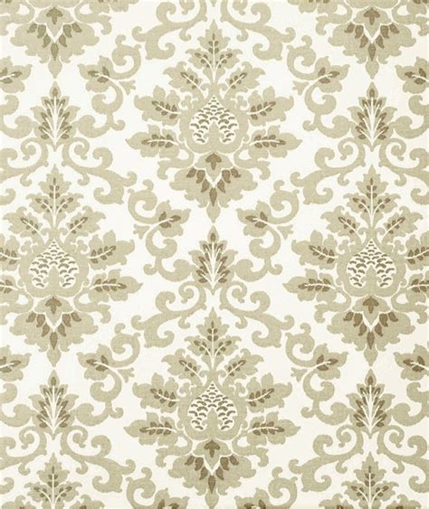 Grey Brown Upholstery Fabric Neutral Grey Brown Cotton Damask Fabric By The By Cottoncircle