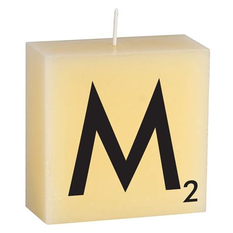 M Candle By Cerabella Candle Alphabet Letters