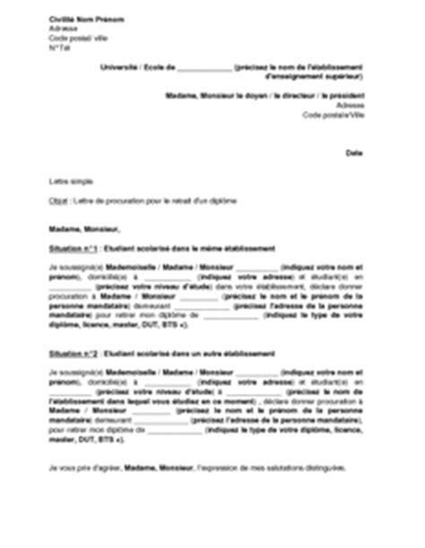 Modèle De Lettre Annulation De Procuration Sle Cover Letter Exemple De Lettre De Procuration Pour Recuperer Un Diplome