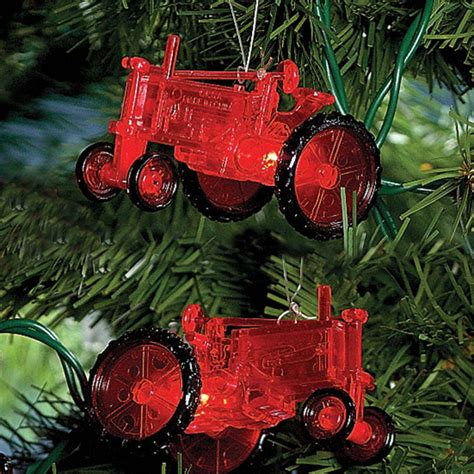 tractor christmas tree lights farm tractor string light set farming tree decoration ebay