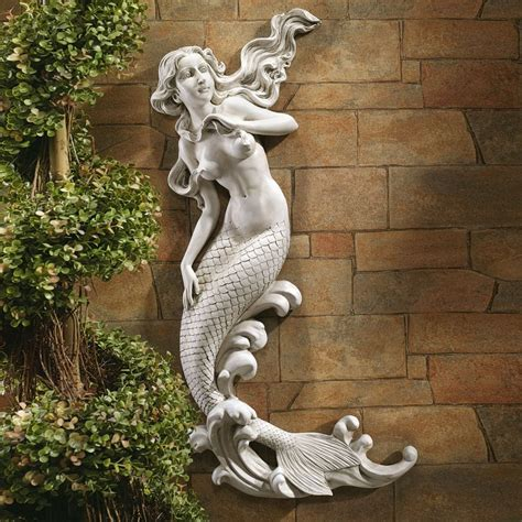 design toscano eu6424 the mermaid of langelinie cove wall sculpture atg stores