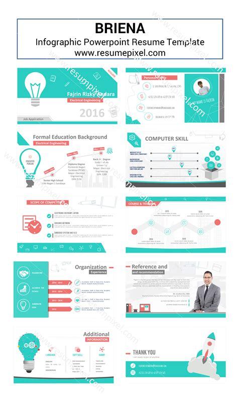 desain cv menarik free download desain cv kreatif contoh cv dan resume powerpoint briena
