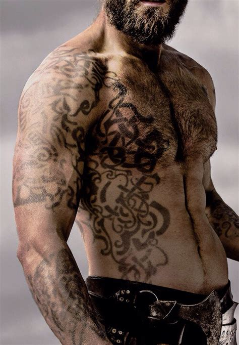 Rollo Tattoo Vikings Meaning | rollo clive standen warrior tattoo tribal tattoo