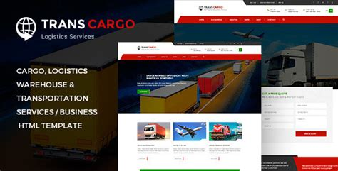 Transcargo Transport Logistics Html Template By Pixity Themeforest Logistics Website Template