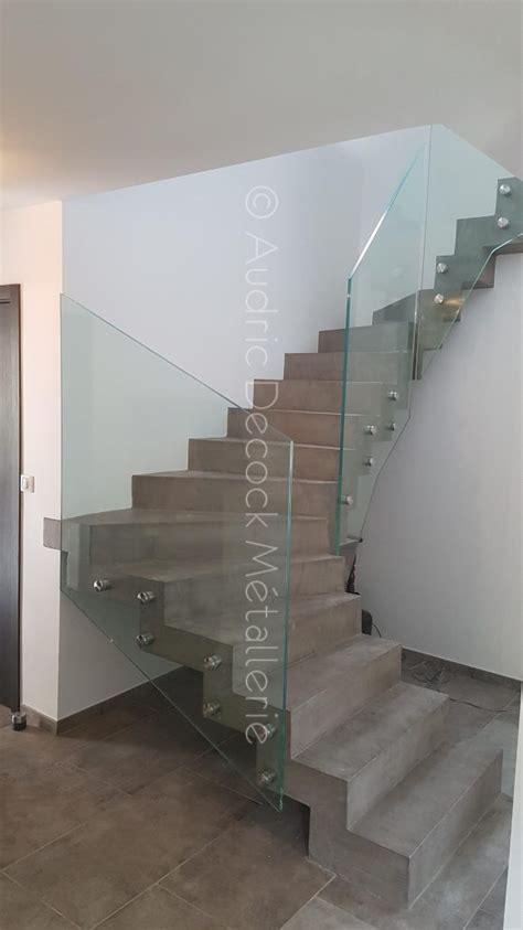 Escalier En Beton by Garde Corps En Verre Pour Un Escalier M 233 Tallerie Lyon