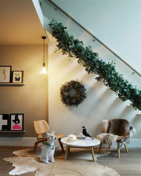 ivy staircase steunk pinterest ivy lodges and make you staircase look beautiful this christmas with some
