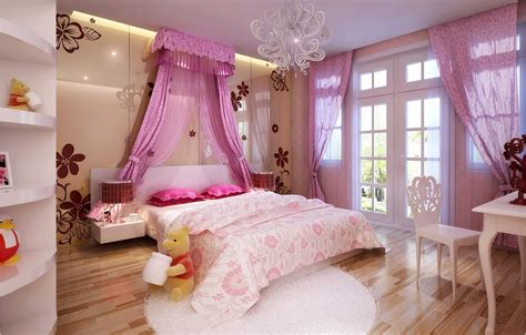 big pink bedroom collection modern bedroom fully furnished 3d model max cgtrader com