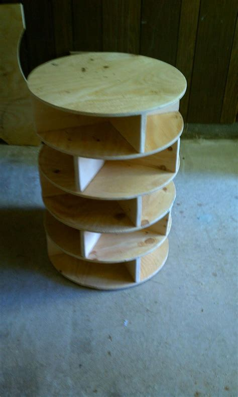 diy lazy susan shoe storage want to make a lazy susan shoe rack talk to us join the
