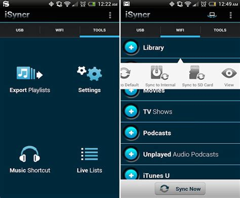 does itunes work on android can i sync itunes with my android three sync apps compared