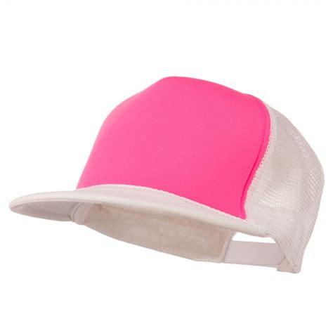 Bill Trucker Cap Pink White by Cap White Pink Flat Bill Neon Trucker Cap E4hats