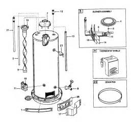aosmith water heater parts model gcv40 sears partsdirect