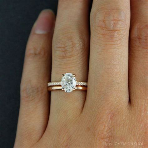 Wedding Bands For Oval Engagement Ring by Forever One D E F Colorless Oval Solitaire Engagement Ring