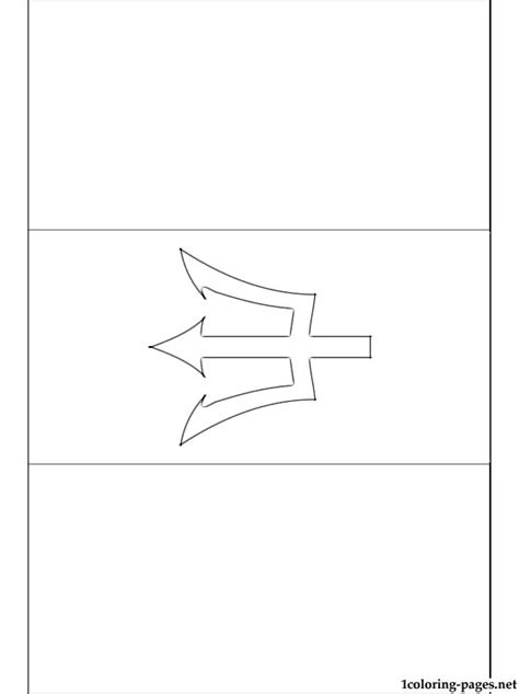 barbados flag coloring page coloring pages