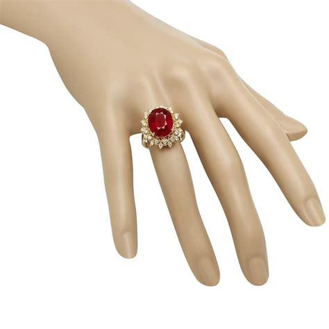 Ruby 8 55ct 14k gold 8 61ct ruby 0 55ct ring
