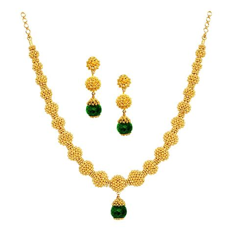 Handcrafted Gold Jewelry - necklaces indian traditional handmade gold balls