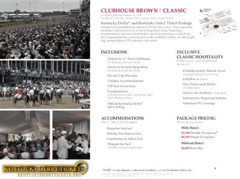 churchill downs section 110 kentucky derby brochure churchill downs tickets