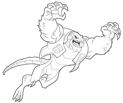 Killer Croc Coloring Pages batman arkham city killer croc power how coloring