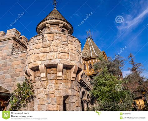 sections of disneyland detail of snow white s castle fantasyland editorial image