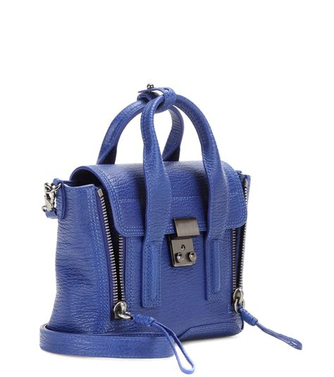 20683 Blue Shoulder Bag 3 In 1 lyst 3 1 phillip lim pashli mini leather shoulder bag in blue