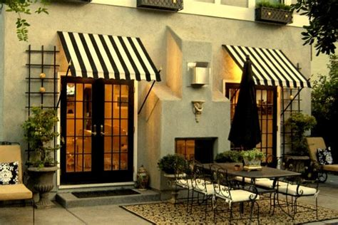 Black Awning by Black And White Striped Awning Door Awnings