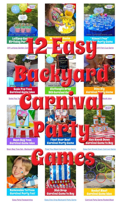 carnival themed games free game ideas carnival birthday party games
