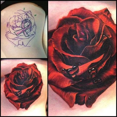 what goes good with rose tattoos 60 amazing cover up tattoos pictures before and after you