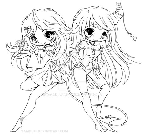 anime doodle characters mermaids and dragons coloring book volume 1 books suii and iish lineart by yuff on deviantart