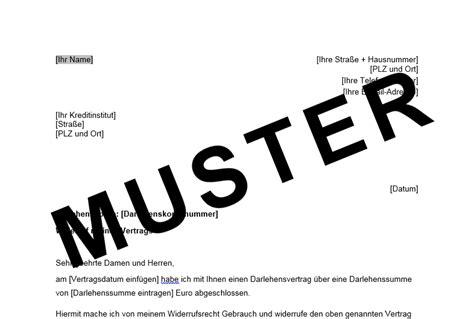 Musterbrief Rückerstattung Bearbeitungsgebühr Kredit Santander Widerruf Kreditvertrag Widerrufsrecht Bei Darlehen