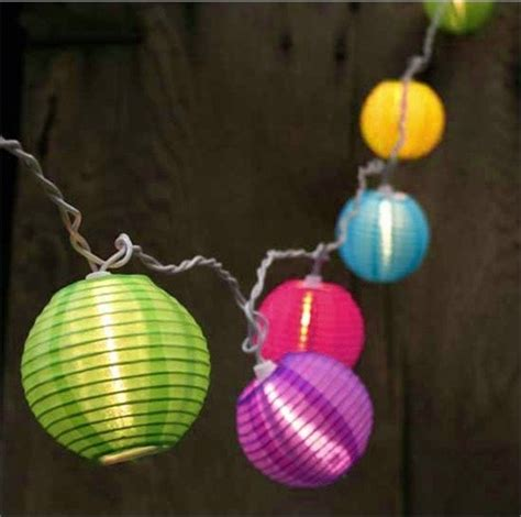 Colored Patio String Lights by Bright And Colorful Lantern Patio Lights