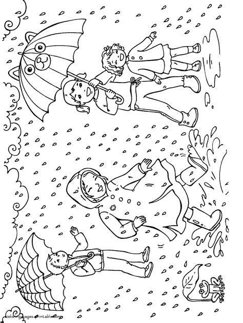 spring rain coloring pages az coloring pages