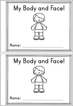 Body Parts Emergent Reader - Two Books by Happy Little