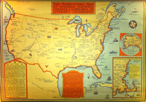 Literature Map by A Booklover S Map Of Literary Geography Circa 1933 Brain