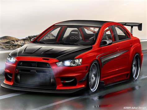 mitsubishi evo modified modified cars mitsubishi evo x custom kit