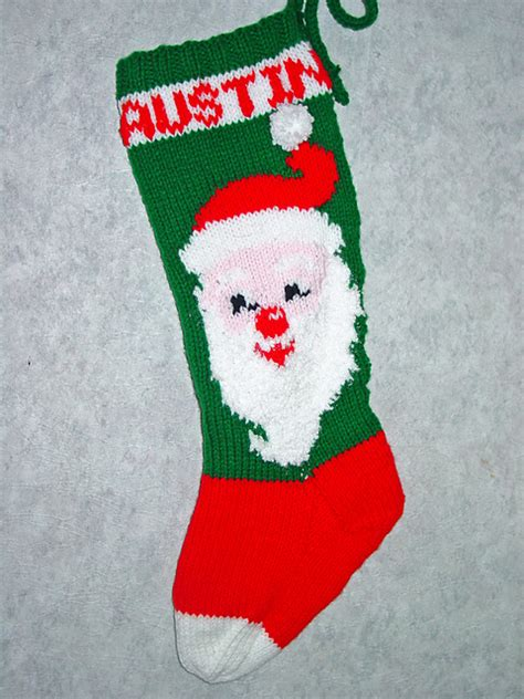 pattern knit christmas stocking mr claus christmas stocking pattern by mary maxim