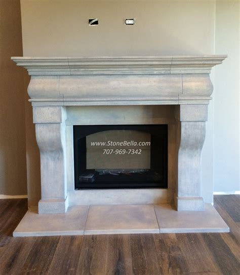 fireplace mantle surround cast stone old world hearth