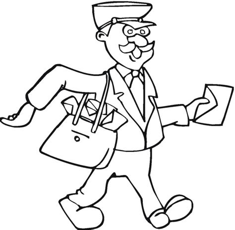mailman cartoon coloring pages