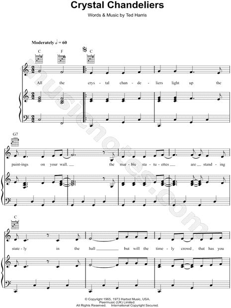 i want to swing from the chandelier song charley pride quot crystal chandeliers quot sheet music in c major