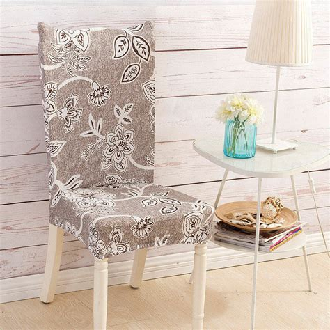 pcs elegant spandex chair cover kitchen dining room